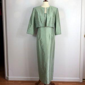 Talbots Petites Silk Dress with Jacket NWOT